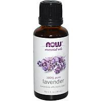 Лавандовое эфирное масло (Lavender), Now Foods, 30 мл