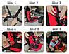 Бескаркасное детское автокресло Multi Function Car Cushion / Кресло автомобильное (красное), фото 9
