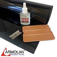 Тонировочная плёнка HP Carbon 20 (размер 0,75х3м) + инструмент для тонировки авто Armolan США цена за комплект, фото 1