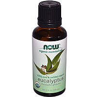 Масло эвкалипта органик (Eucalyptus) , Now Foods, 30 мл