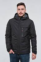 Мужская модная черная куртка с капюшоном