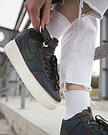 Nike Air Force High Leather Reflective