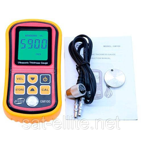 Толщиномер ультразвуковой, тестер покрытий 1.2-225мм Benetech GM100