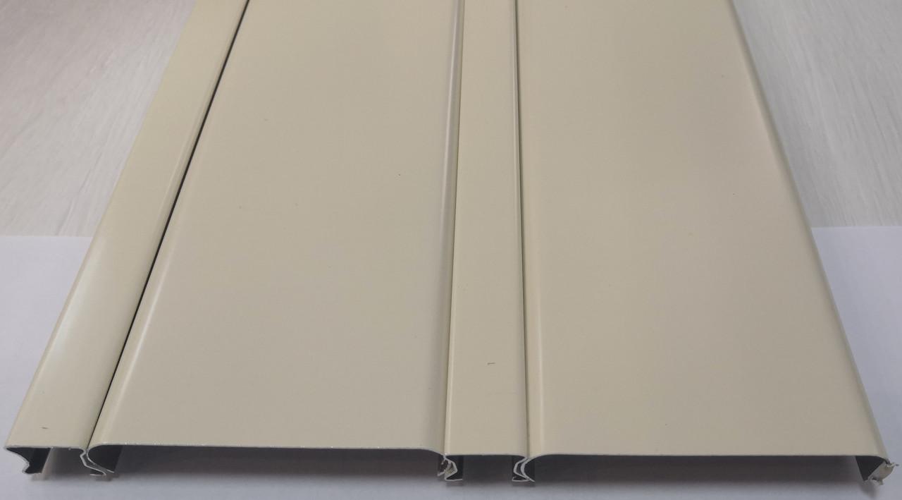 Реечный алюминиевый потолок светло бежевый, комплект