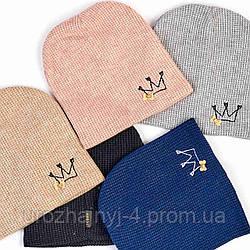 Шапка для девочки подкладка флисе р52-54 поштучно