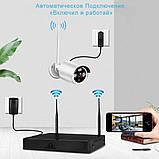 Беспроводной комплект видеонаблюдения на 4 Wi-Fi камеры 3МП, NVR 4K KIT WiFi, Гарантия!, фото 7