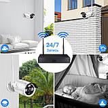 Беспроводной комплект видеонаблюдения на 4 Wi-Fi камеры 3МП, NVR 4K KIT WiFi, Гарантия!, фото 8