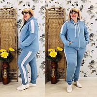 Трикотажный спортивный костюм женский Турецкая двунитка Размер 48 50 52 54 56 58 60 62 В наличии 4 цвета