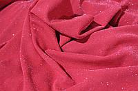 Ткань креп дайвинг , тонкая люрексовая нить , легкое мерцание, красный, фото 1