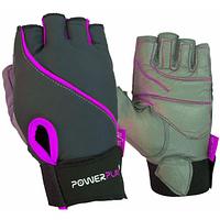 Рукавички для фітнесу PowerPlay 1725 A Сіро-Фіолетові XS SKL24-144416