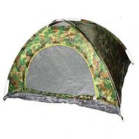 Палатка туристическая двухместная автомат камуфляж SKL11-239422