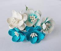 Цветы вишни_ГОЛУБОЙ МИКС 5 шт., фото 1