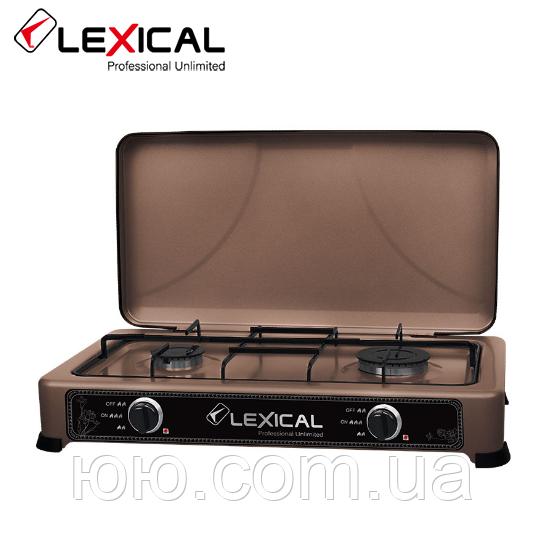 Газовая плита  LEXICAL LGS-2812-5 настольная на 2 конфорки