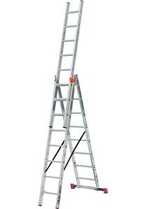 Лестница универсальная алюминиевая Werk LZ3209B трансформер 3х9 (35275)