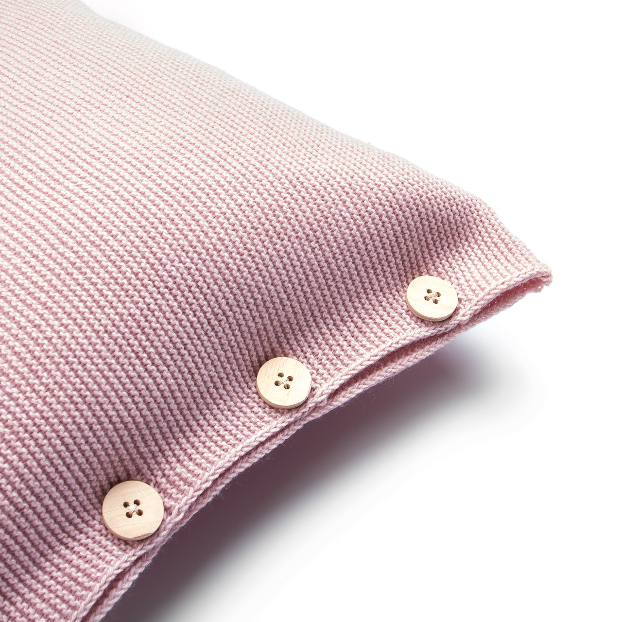 Чехол для подушки Ohaina вязаный 40х40 Powder Pink