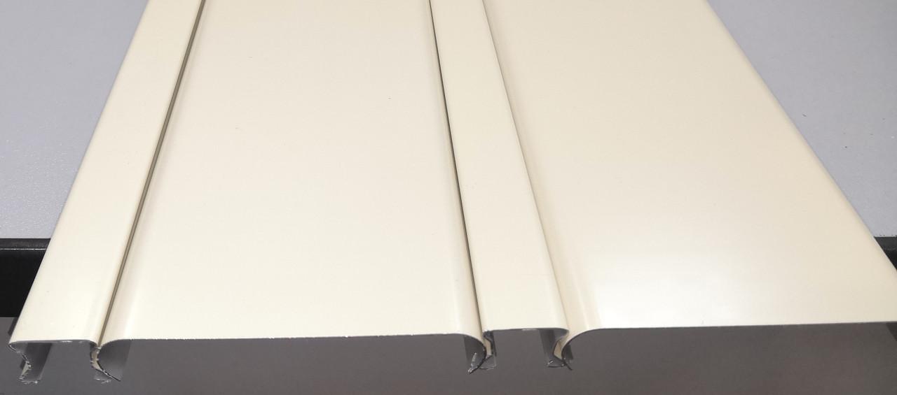Реечный алюминиевый потолок Allux бежевый матовый комплект 200 см х 350 см