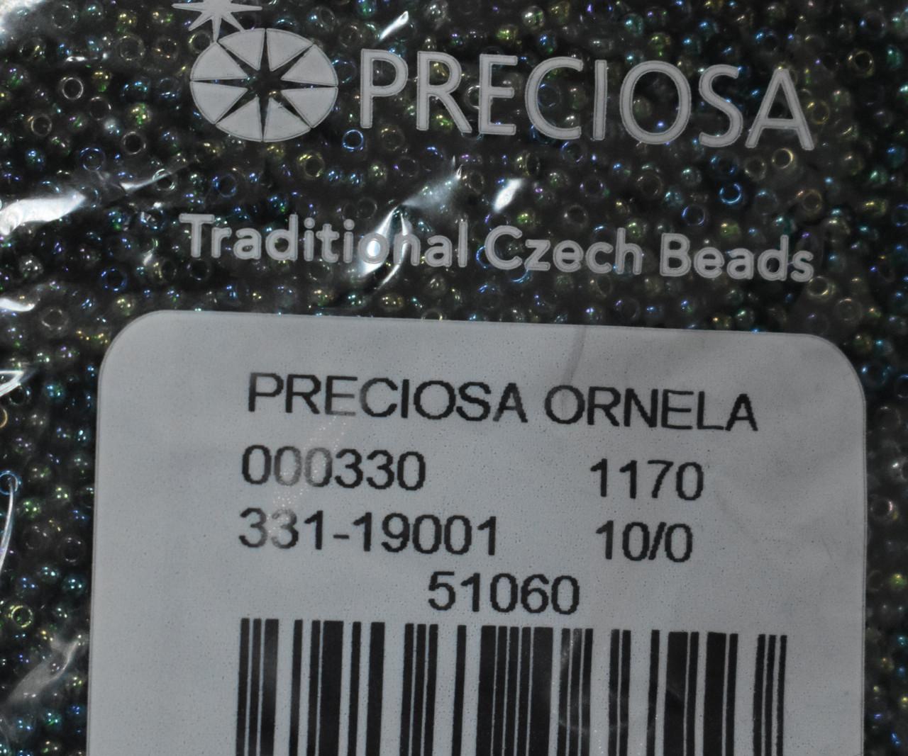 Бісер Preciosa 10/0 колір 51060 зелений 10г