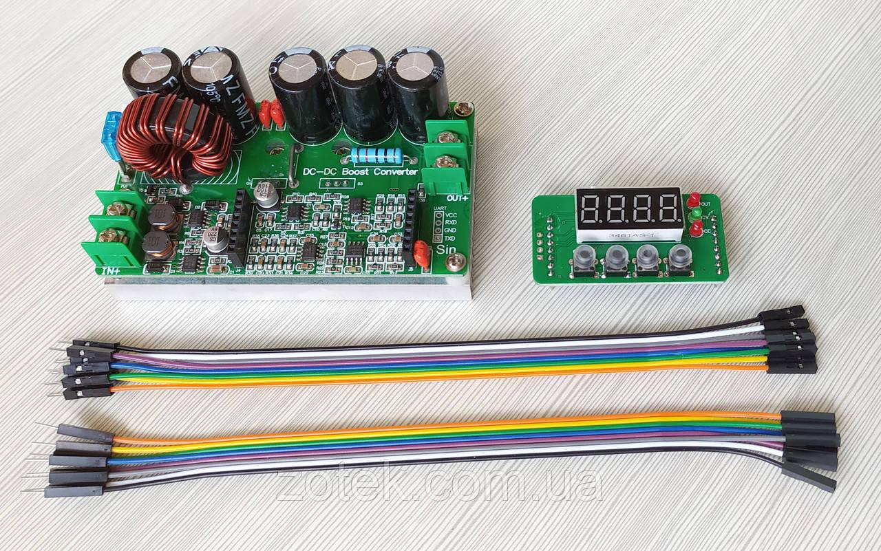 DPT9010 10A DC-DC Повышающий преобразователь стабилизатор с цифровым управлением 6-60В->6-90В
