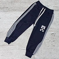Штаны спортивные для мальчика ДВУНИТКА, РОСТОВКА от 92 до 116. Качественный детские штанишки
