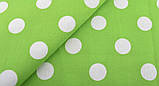 Зелений (салатовий) набір тканини для рукоділля - 8 відрізів 25*25 см, фото 7