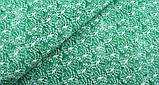 Зелений (салатовий) набір тканини для рукоділля - 8 відрізів 25*25 см, фото 10