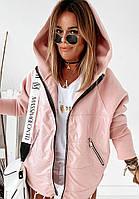 """Куртка-толстовка розовая женская  """"LOTS OF""""осень/весна ,в расцветках , размеры: с 36 по 82"""
