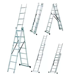 Лестница универсальная алюминиевая Werk LZ3208B трансформер 3х8 (35274)