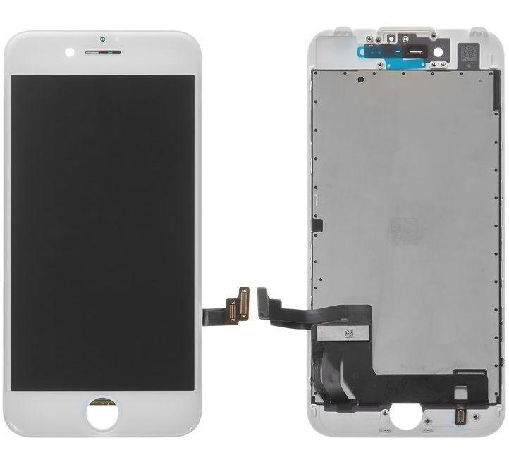 Дисплей Apple iPhone 7 з тачскріном і рамкою, копія, білий