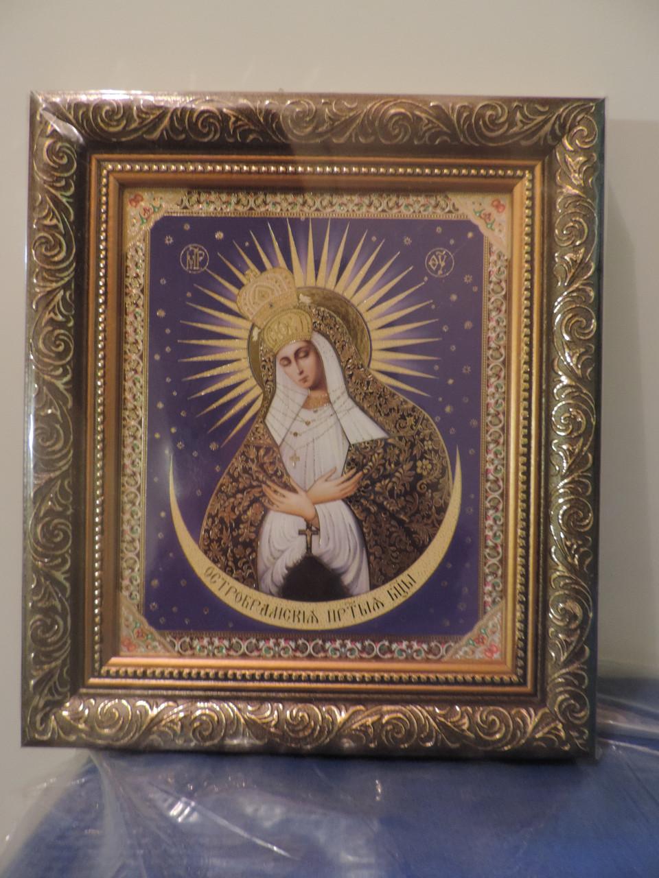 """Икона """"Божией Матери Остробрамская"""". Размер 43 х 33 см."""