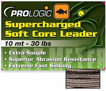 Лидкор Prologic Supercharged Soft Core Leader 10m 40lbs Camo Silt