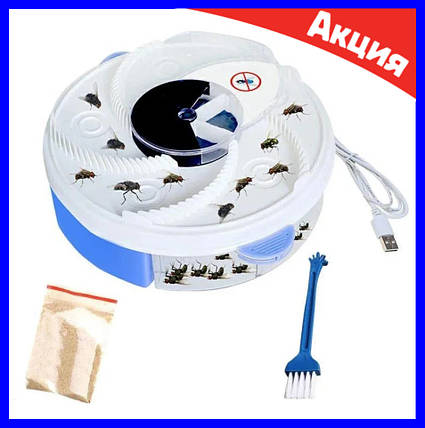 Электрическая ловушка для насекомых (мухоловка) USB Electric Fly Trap MOSQUITOES, фото 2
