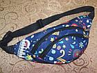 Детская сумка на пояс Принты 11*31 см, фото 5