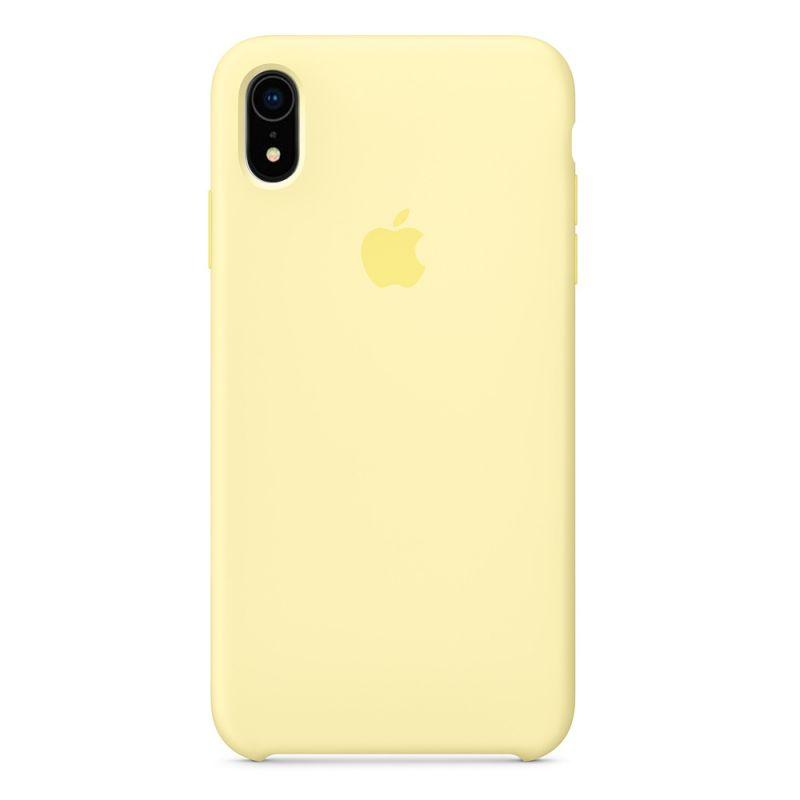 Силиконовый чехол Apple Silicone Case для iPhone XR ((MGKX2), Mellow Yellow)