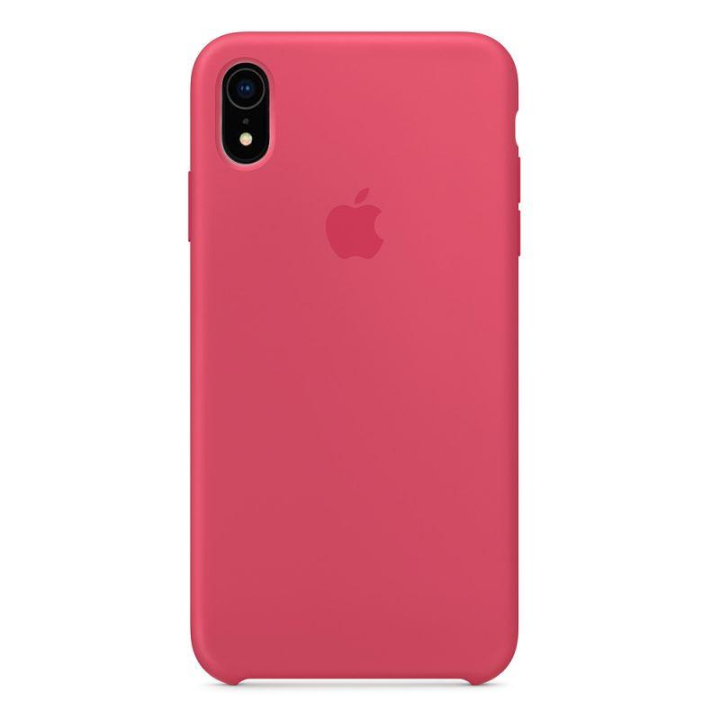 Силиконовый чехол Apple Silicone Case для iPhone XR ((MRJE2), Hibiscus)