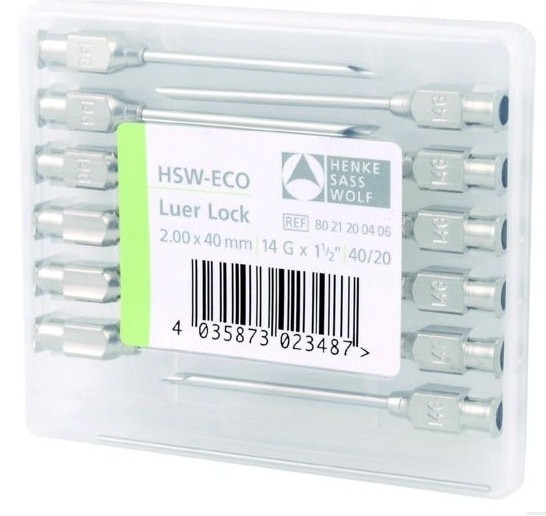 Многоразовые иглы HSW-ECO 2 х 40 мм
