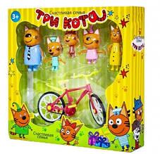 Набір Героїв Три кота з велосипедом