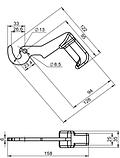 Ручка-крючок для твердотопливного котла типа Defro малая (Польша), фото 4
