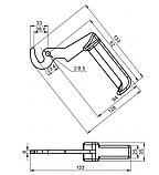 Ручка-крючок для твердотопливного котла типа Defro малая (Польша), фото 3