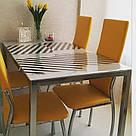 Прозрачная силиконовая скатерть на стол Soft Glass 1.0х1.2 м толщина 2мм Мягкое стекло, фото 5