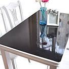 Прозрачная силиконовая скатерть на стол Soft Glass 1.0х1.2 м толщина 2мм Мягкое стекло, фото 7
