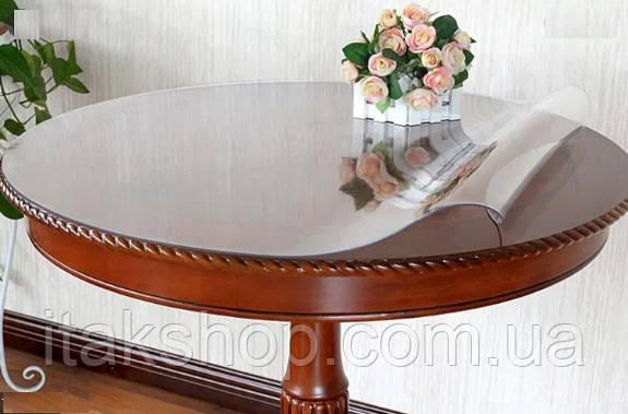 Силіконове м'яке скло Прозора захисна скатертини для столу і меблів Soft Glass (2.1х1.0м) товщина 2 мм