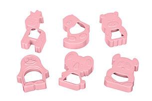 Набор форм для печенья Ardesto Tasty Baking 6 шт. Розовый (AR2309TP), фото 2