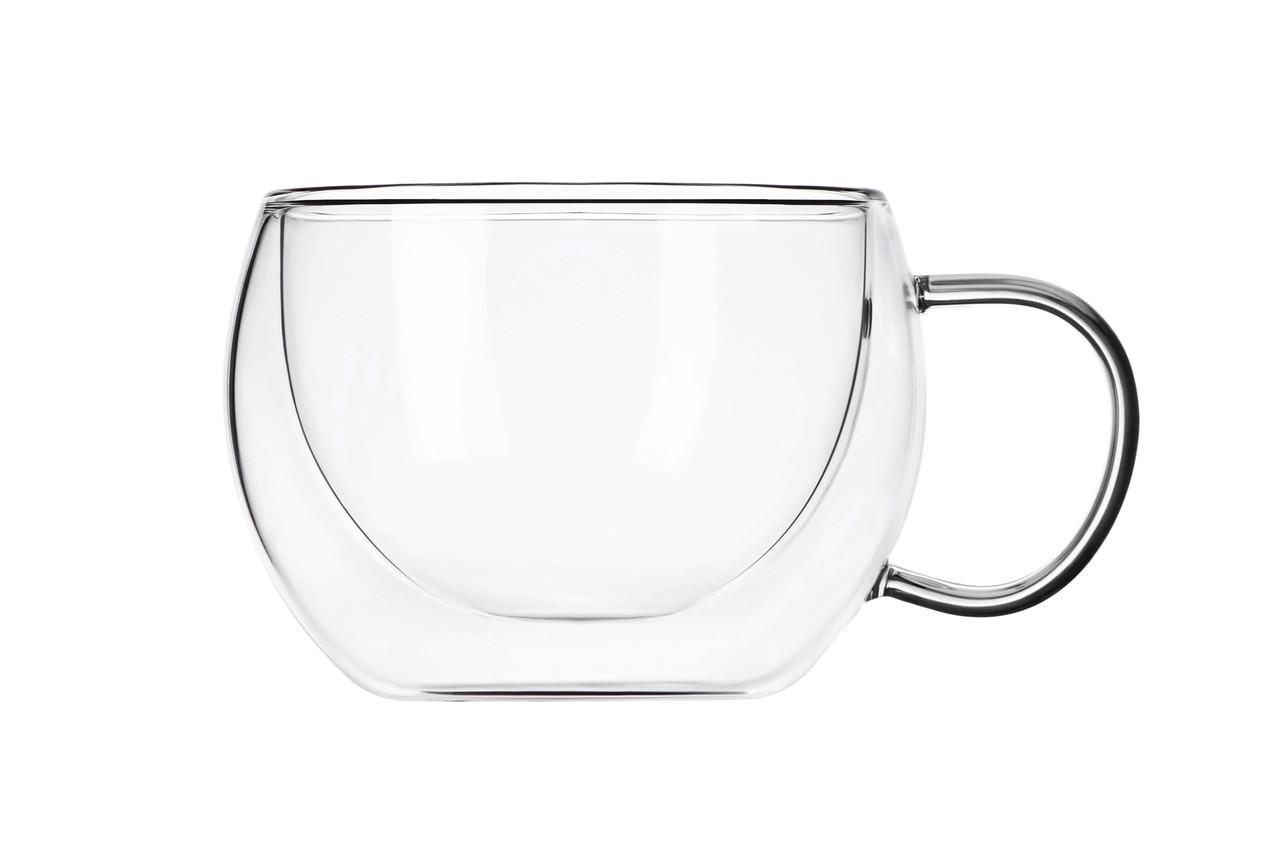 Набір чашок Ardesto З подвійними стінками для лате 300 мл 2 шт. Скло (AR2630GH)