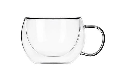 Набір чашок Ardesto З подвійними стінками для лате 300 мл 2 шт. Скло (AR2630GH), фото 2