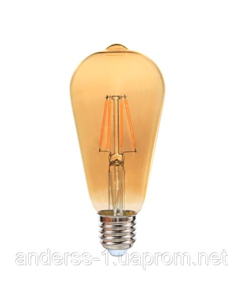Світлодіодна лампа EGE LED Filament 6W ST64