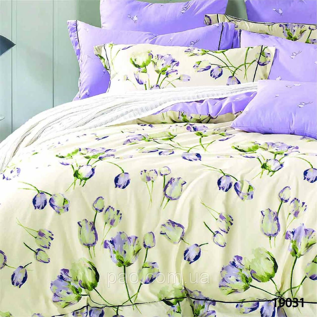Постельное белье Сказочные тюльпаны, ранфорс, евро размер