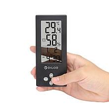 Часы с функциями метеостанции для дома Digoo DG-TH1177 прозрачные Черные (1047724394)