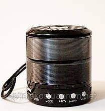 Bluetooth портативная колонка WS-887, черная