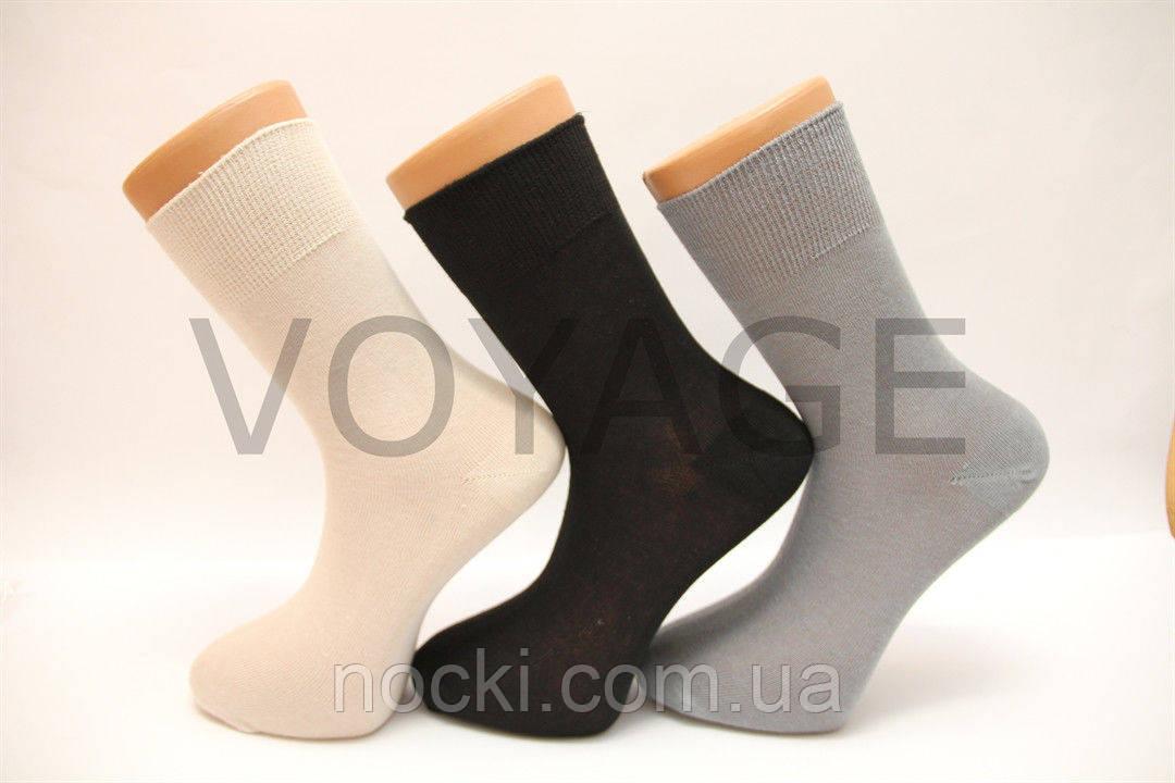 Мужские носки средние с хлопка ГЛАДКИЕ МОНТЕКС,кеттельный шов 39-41 ассорти