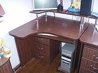 Стол угловой с надстройкой и тумбой